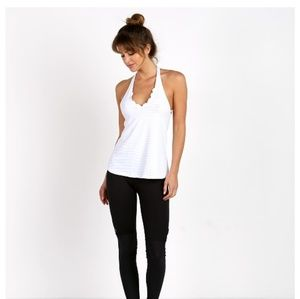 Anthropologie Track & Bliss Scalloped Strappy Tank